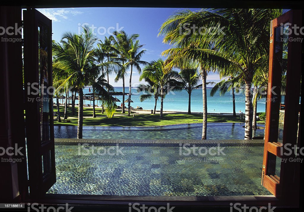 Window on paradise royalty-free stock photo