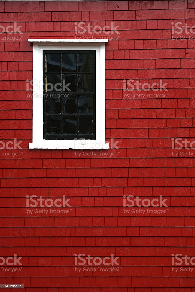 Window on Red stock photo