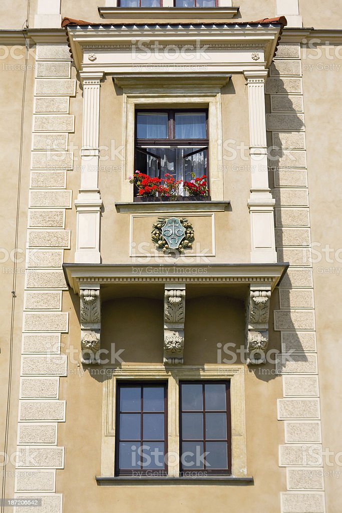 Window on the Facade royalty-free stock photo