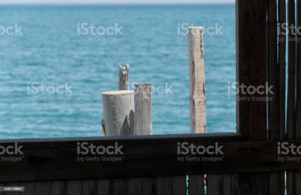 Window on the sea stock photo