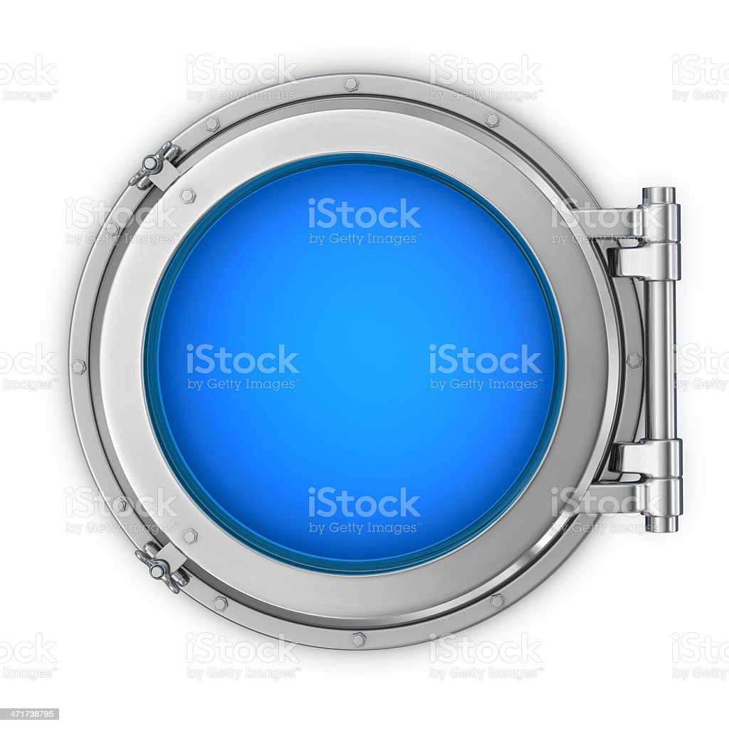 Window on the Ship royalty-free stock photo