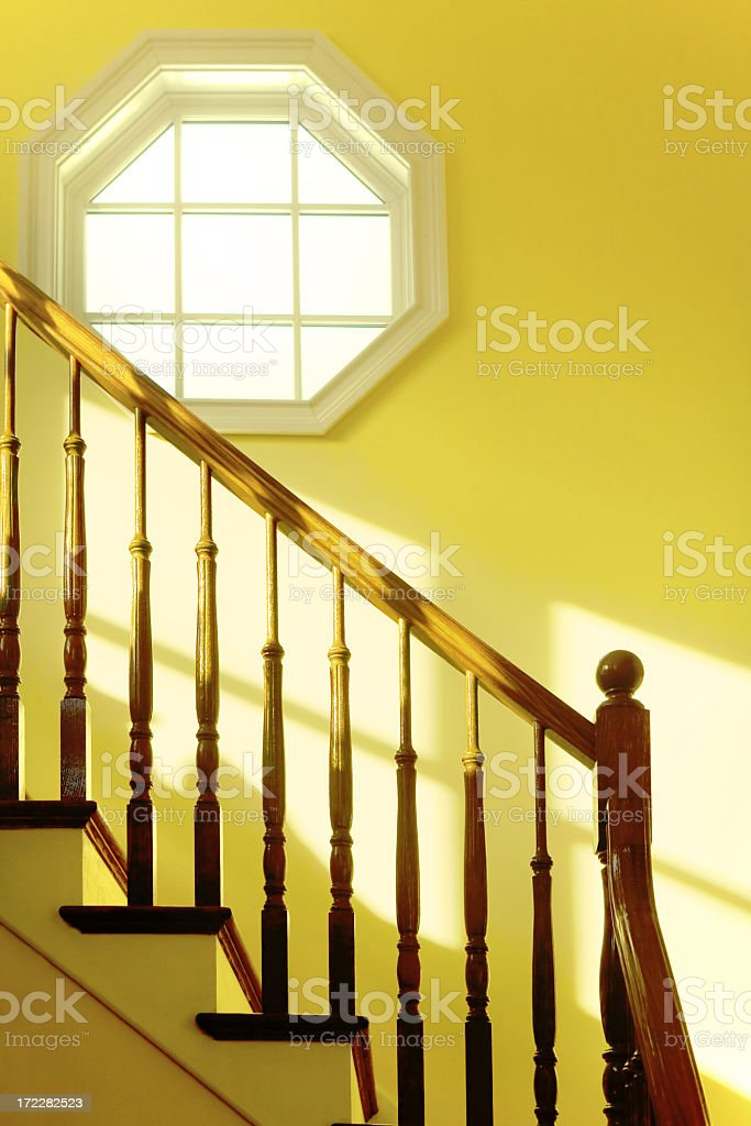 window on the stair royalty-free stock photo