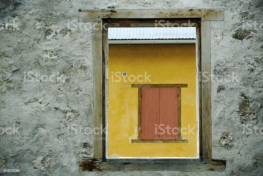 Window open, window closed stock photo