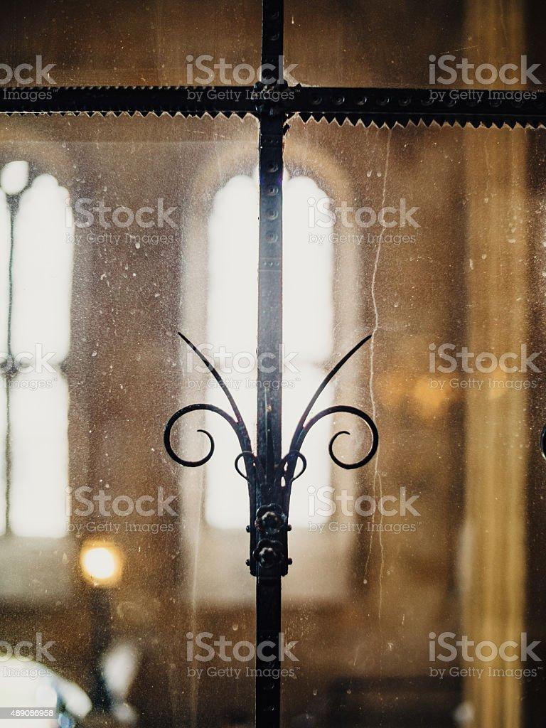 Window Ornament, Christ Church, Oxford, England stock photo