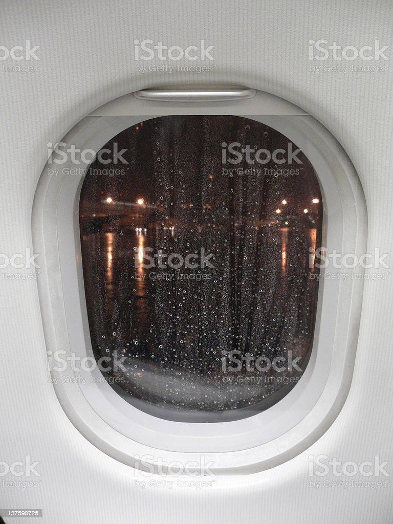 Window rain royalty-free stock photo