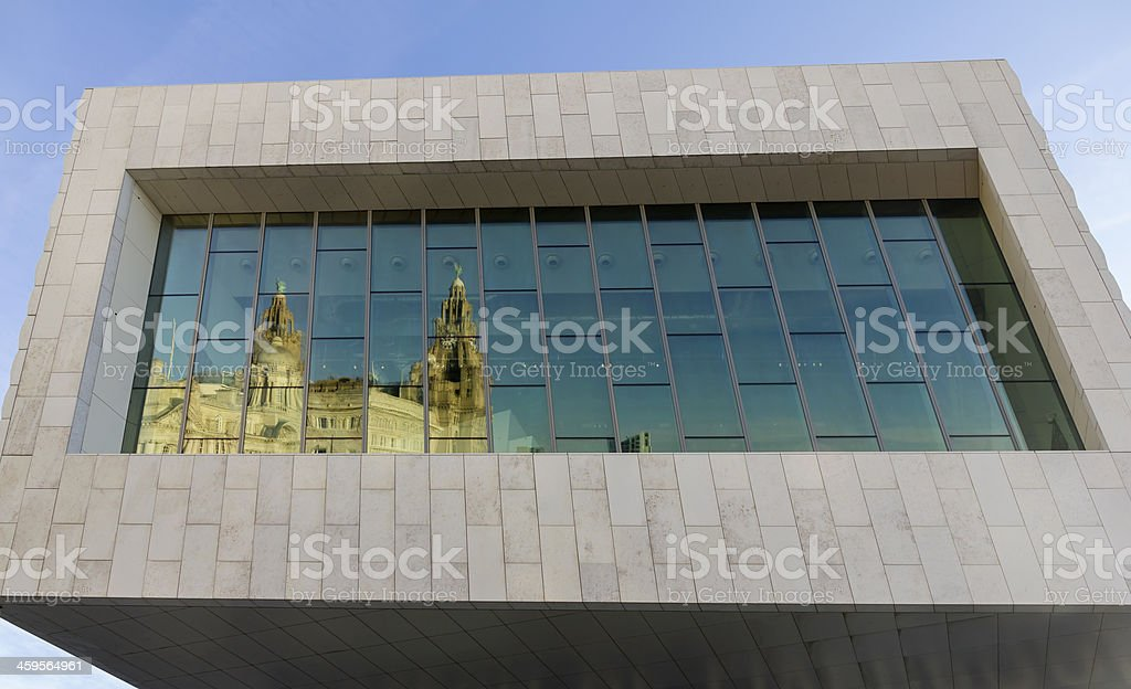 Window Reflection, Liverpool stock photo