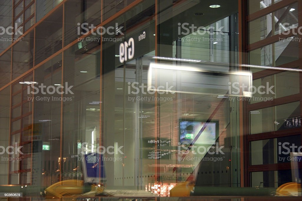 Window reflection royalty-free stock photo