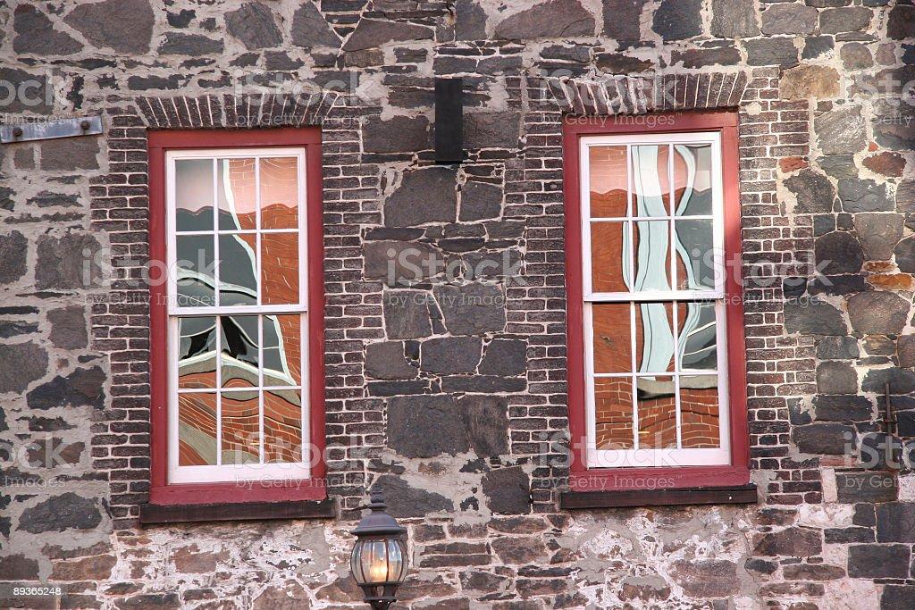 Window reflections royalty-free stock photo
