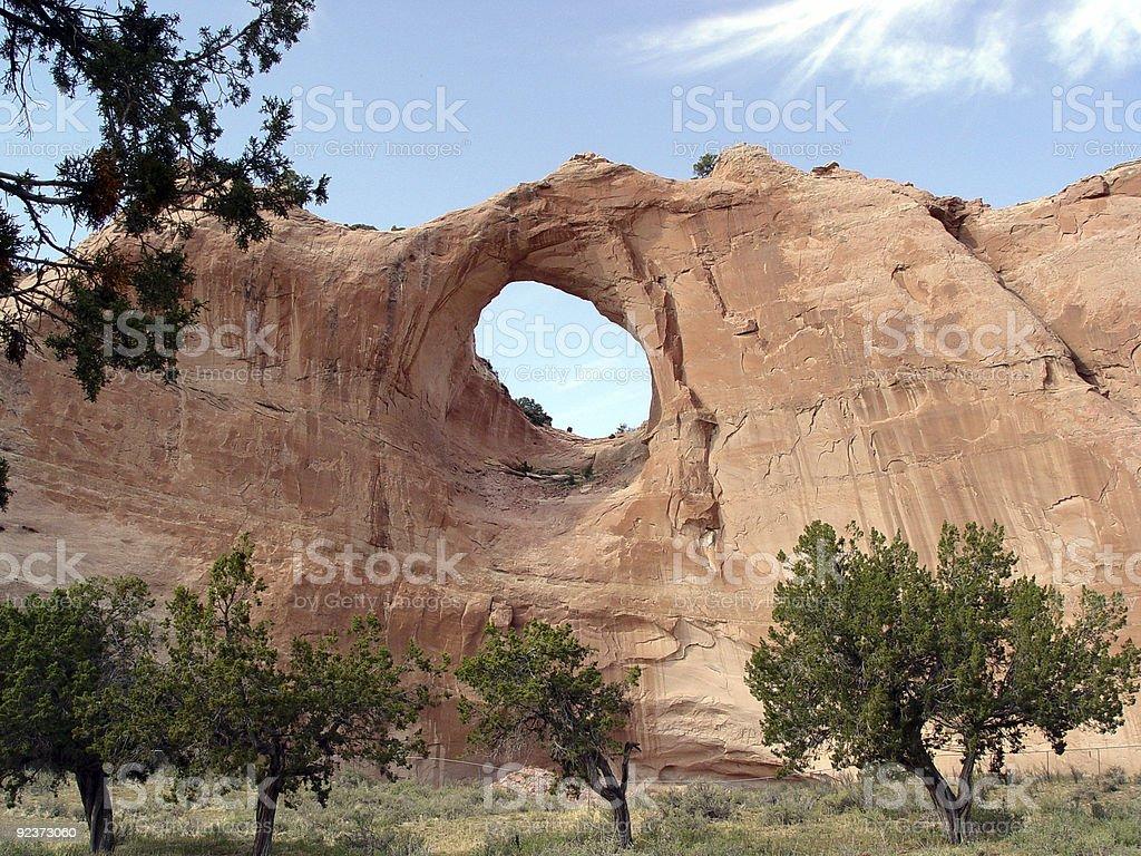 window rock stock photo