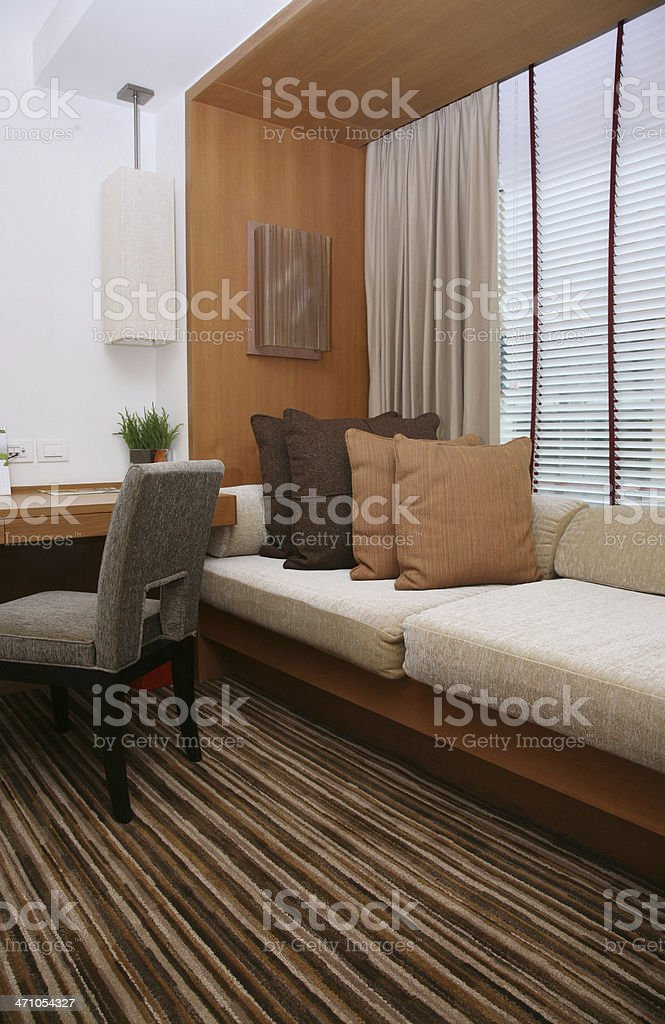 Window Seat In Hotel Room royalty-free stock photo