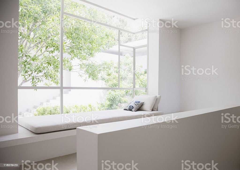 Window seat stock photo