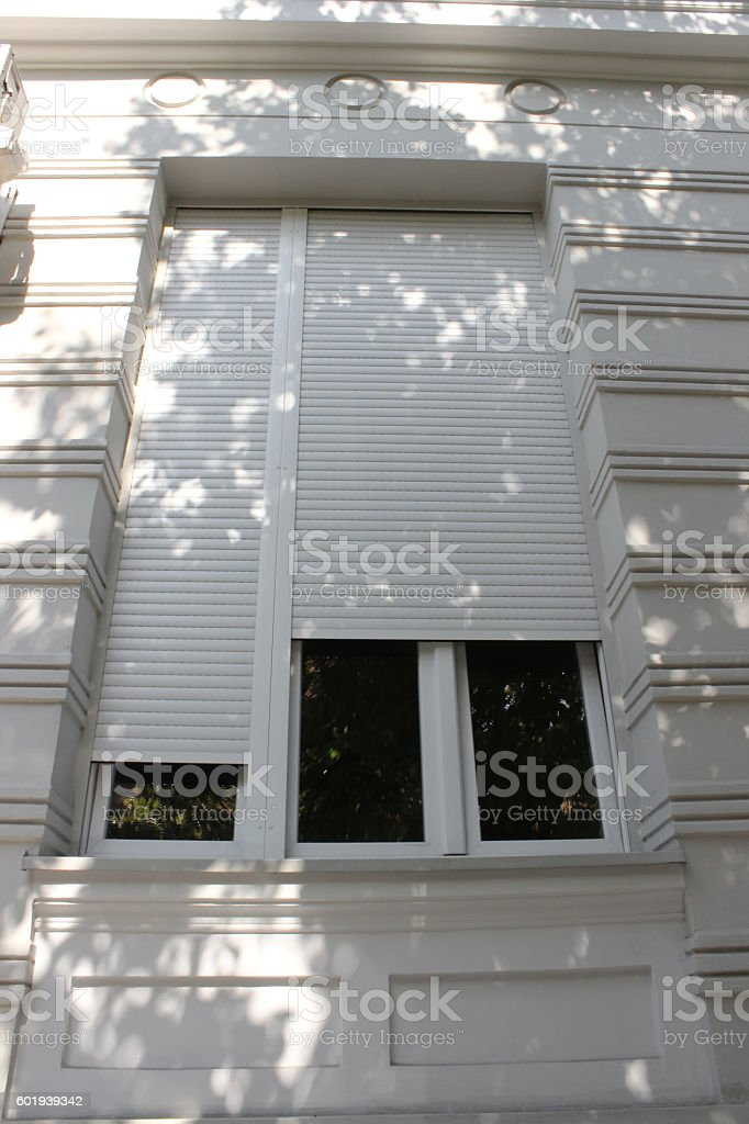Window Security Roller Shutters stock photo
