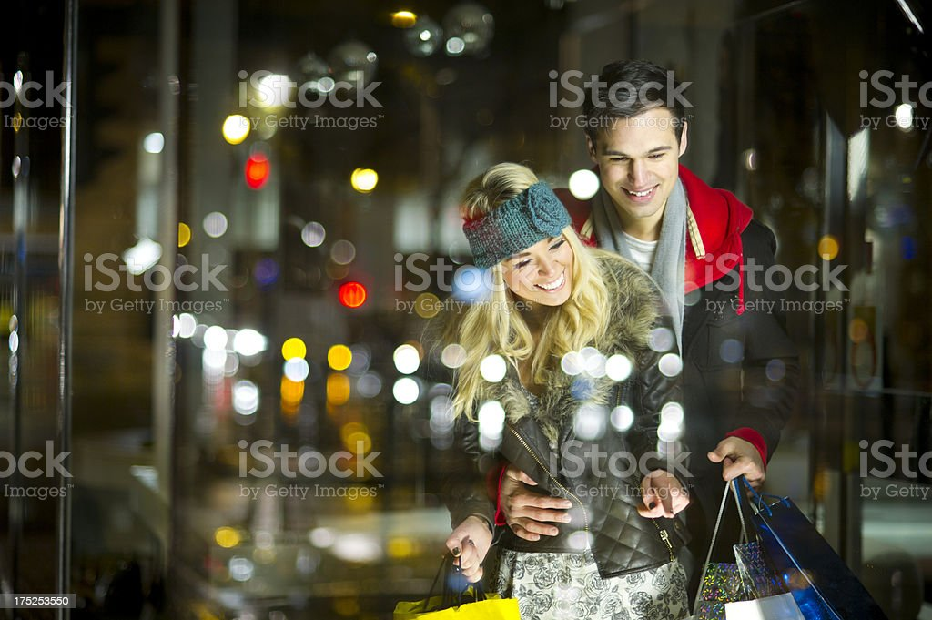 window shoppers stock photo