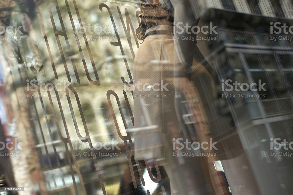 Window Shopping Impressionistic Image royalty-free stock photo