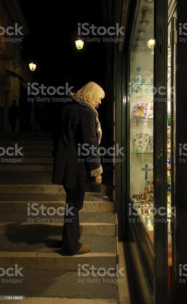 Window Shopping in Venice royalty-free stock photo