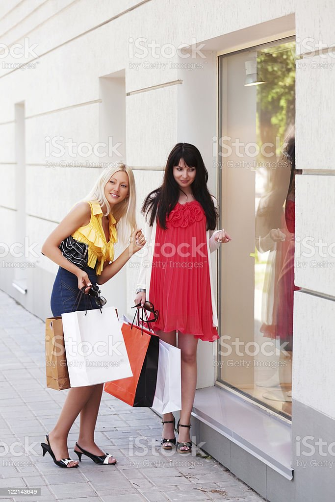 Window shopping royalty-free stock photo