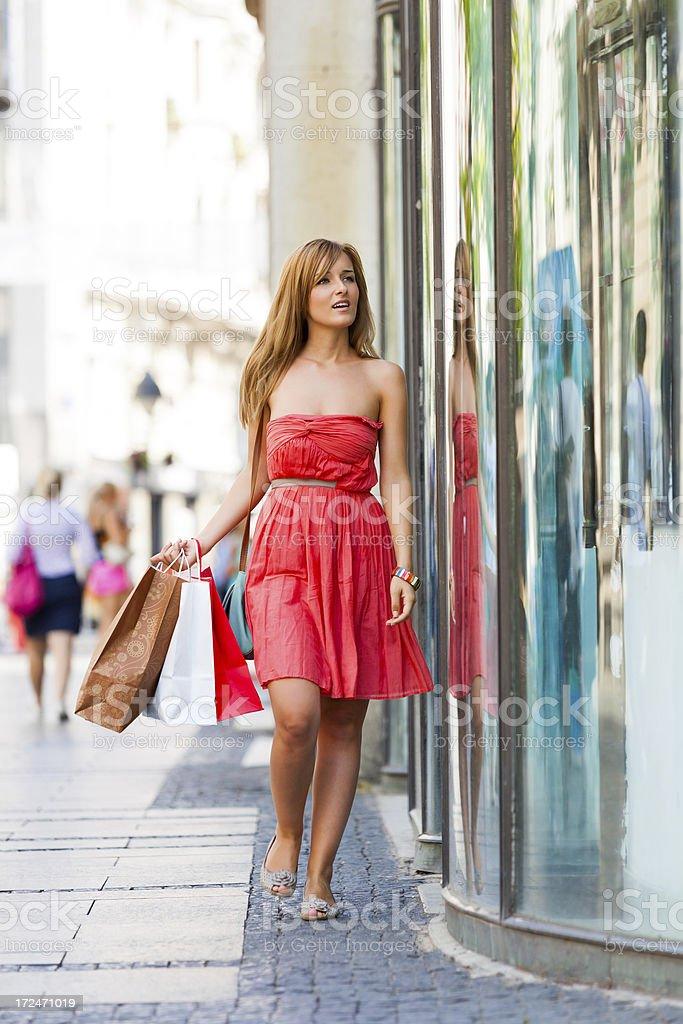 Window shopping royalty-free stock photo