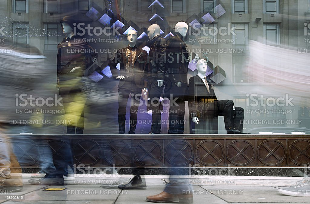 Window shopping, Regent Street, London. stock photo