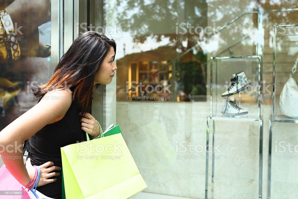 Window Shopping Woman royalty-free stock photo