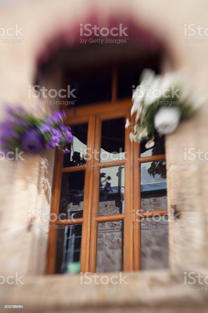 window shot  with lensbabies stock photo