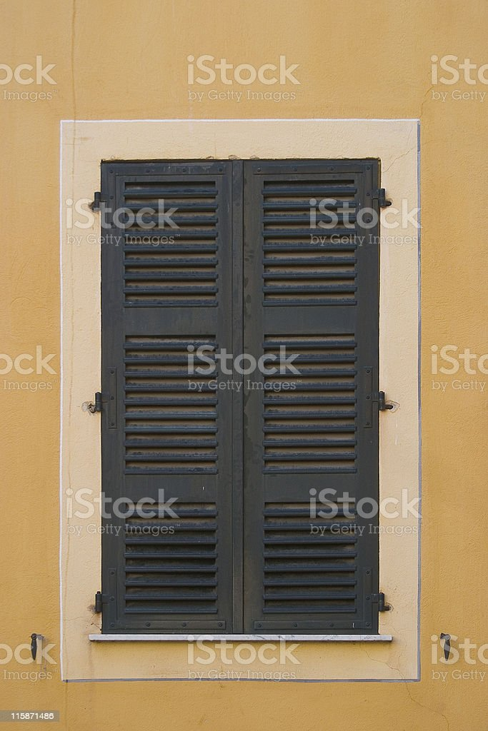 window shutters 1 (closed) royalty-free stock photo
