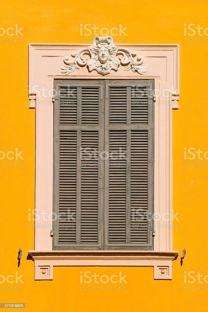 window shutters 2 (closed) stock photo