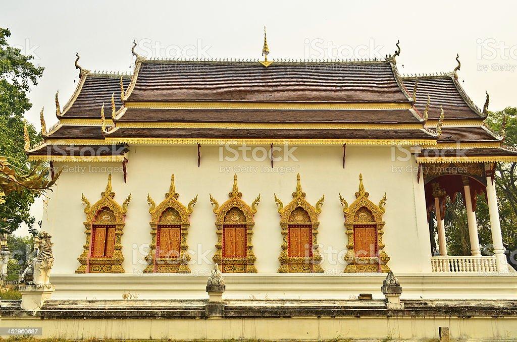 Window Thai temple in bangkok, Thailand royalty-free stock photo