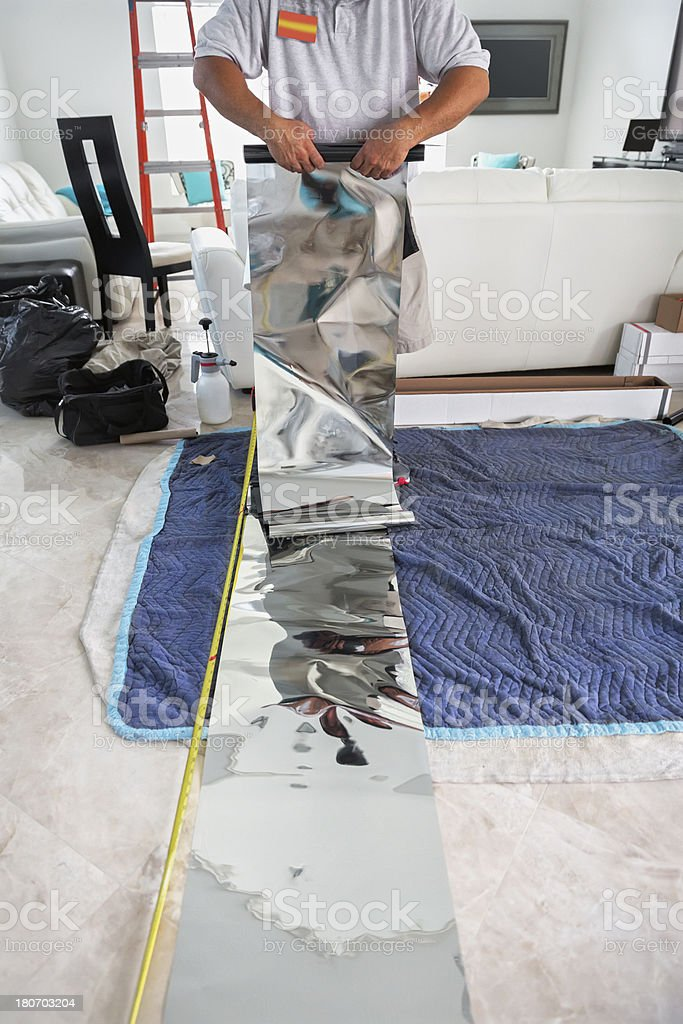 Window Tinting royalty-free stock photo
