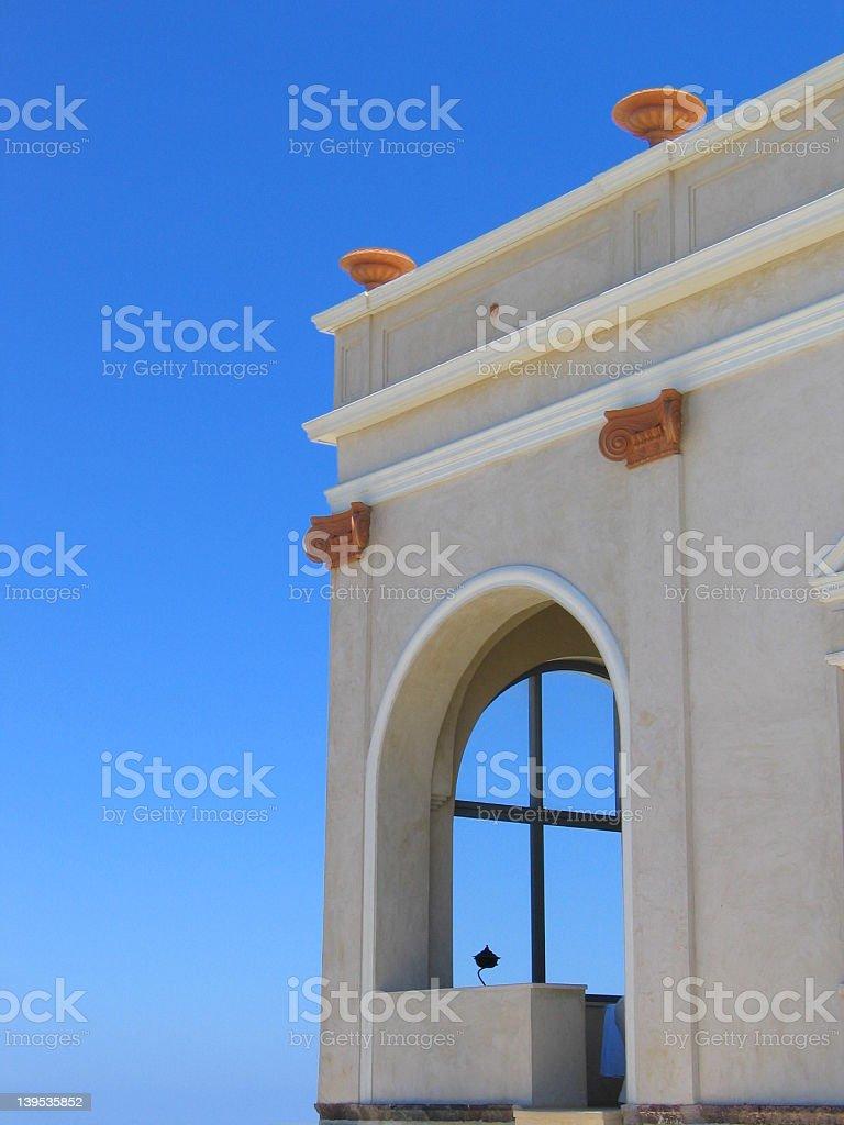 Window to a sky royalty-free stock photo