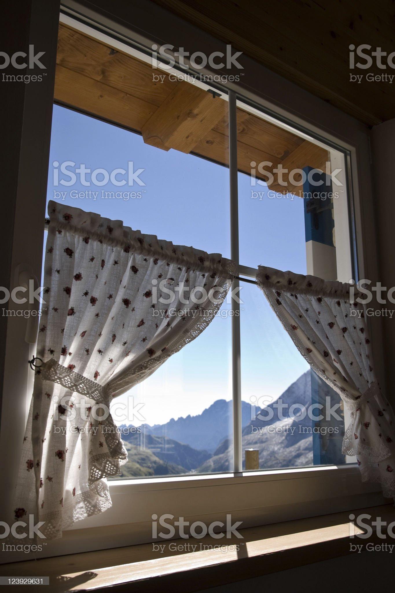 Window to the mountains royalty-free stock photo