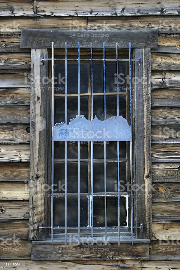 Window to the Old West stock photo