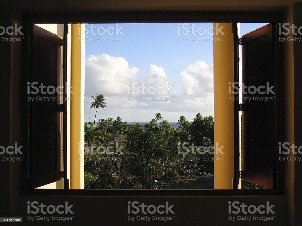 Window to the paradise stock photo