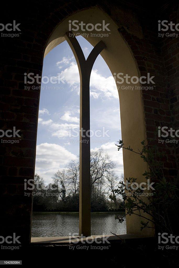 Blick aus dem Fenster Lizenzfreies stock-foto