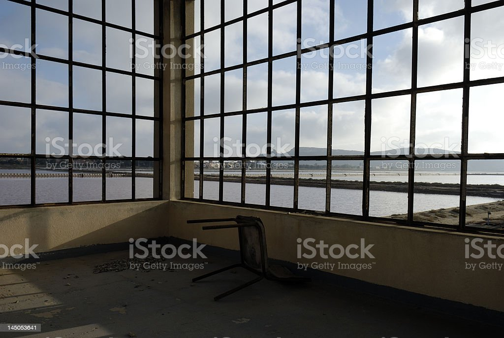 window vista - industrial decay royalty-free stock photo