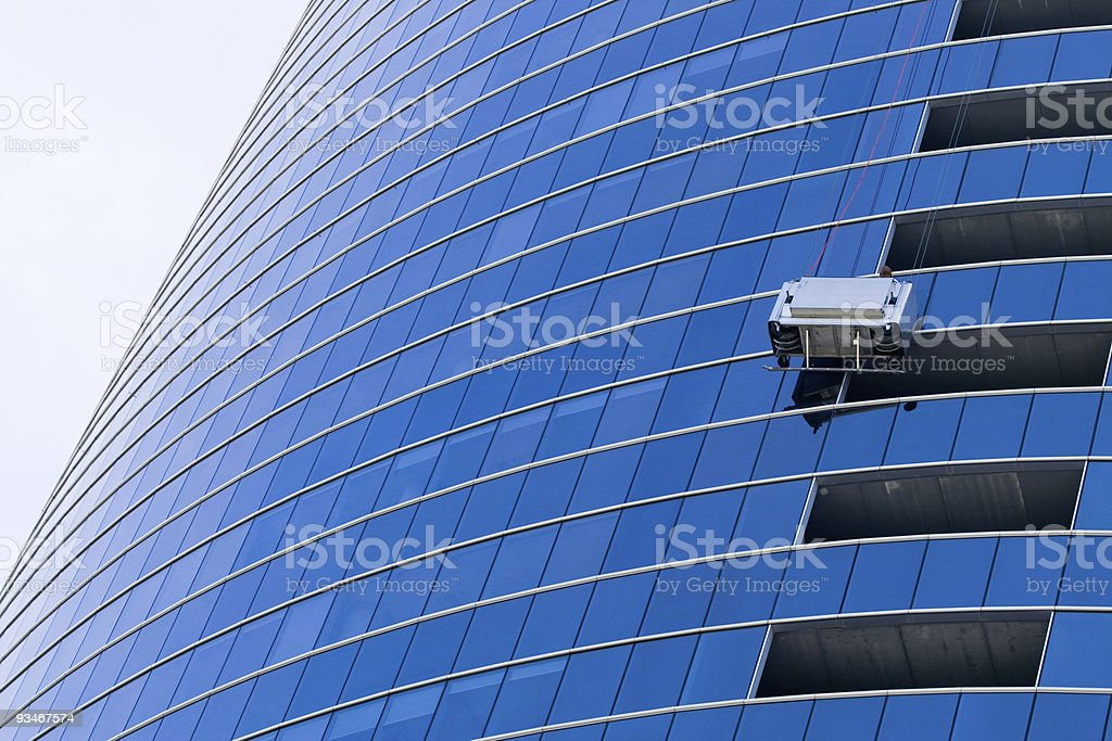 Window washer at work royalty-free stock photo
