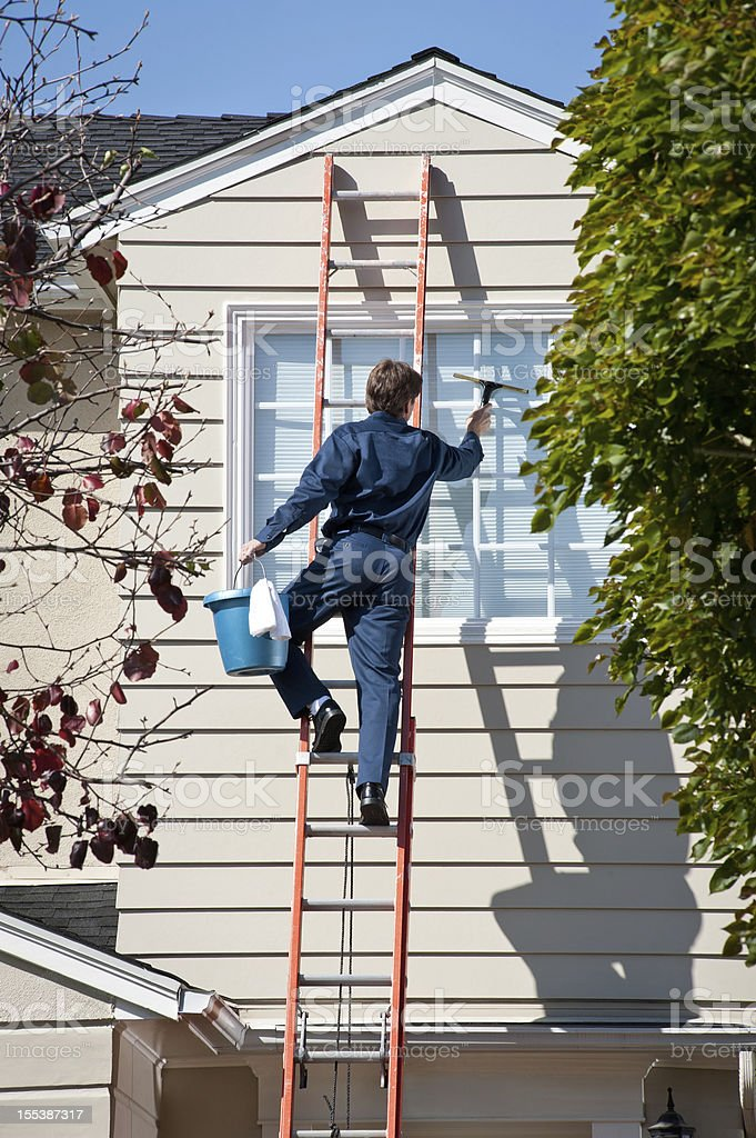 Window Washer royalty-free stock photo