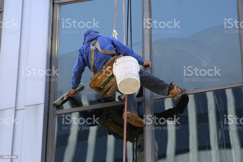 Window Washer royalty-free stock photo