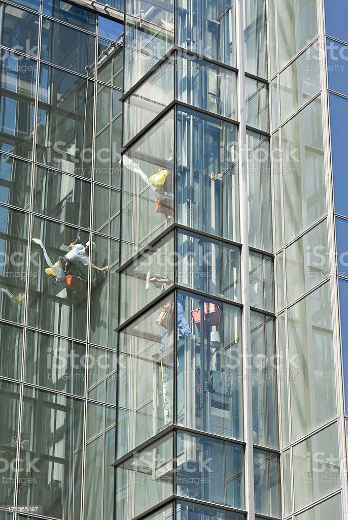 Window Washer Series stock photo