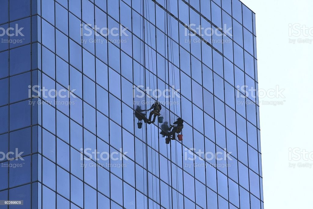 Window washers 1 stock photo