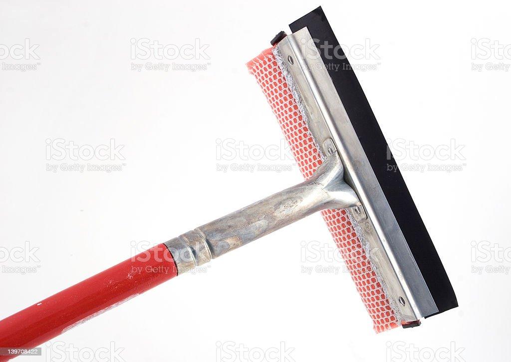 window washing brush stock photo