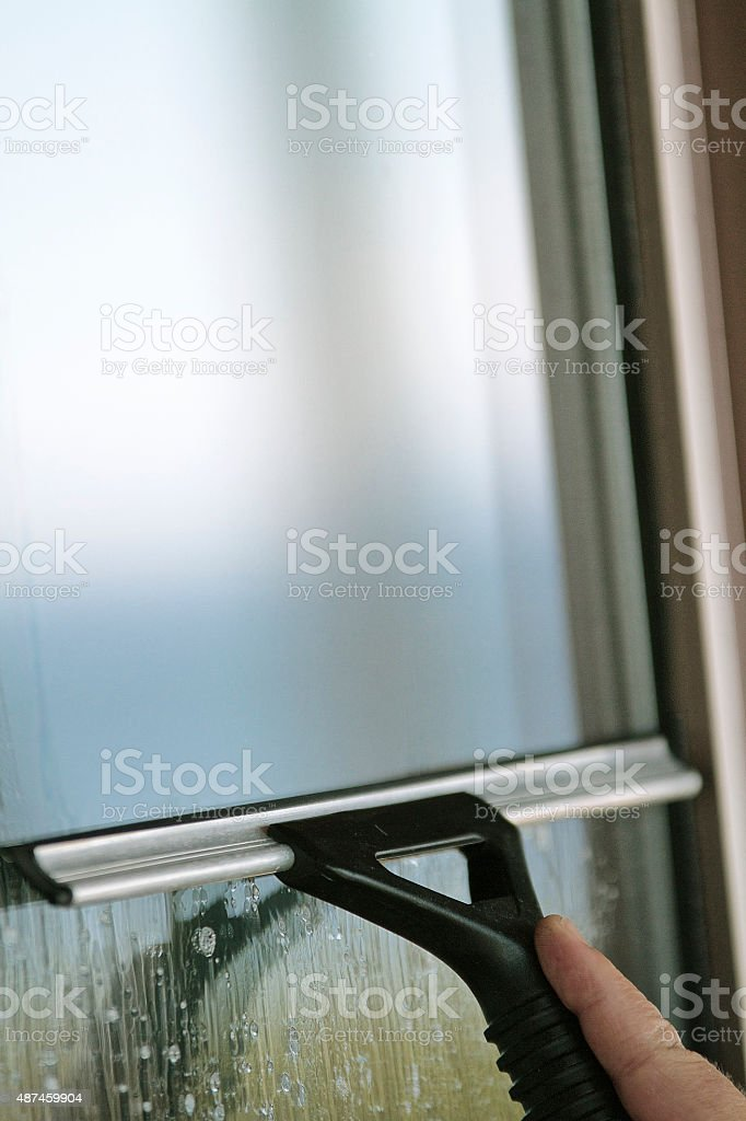 Window Washing stock photo