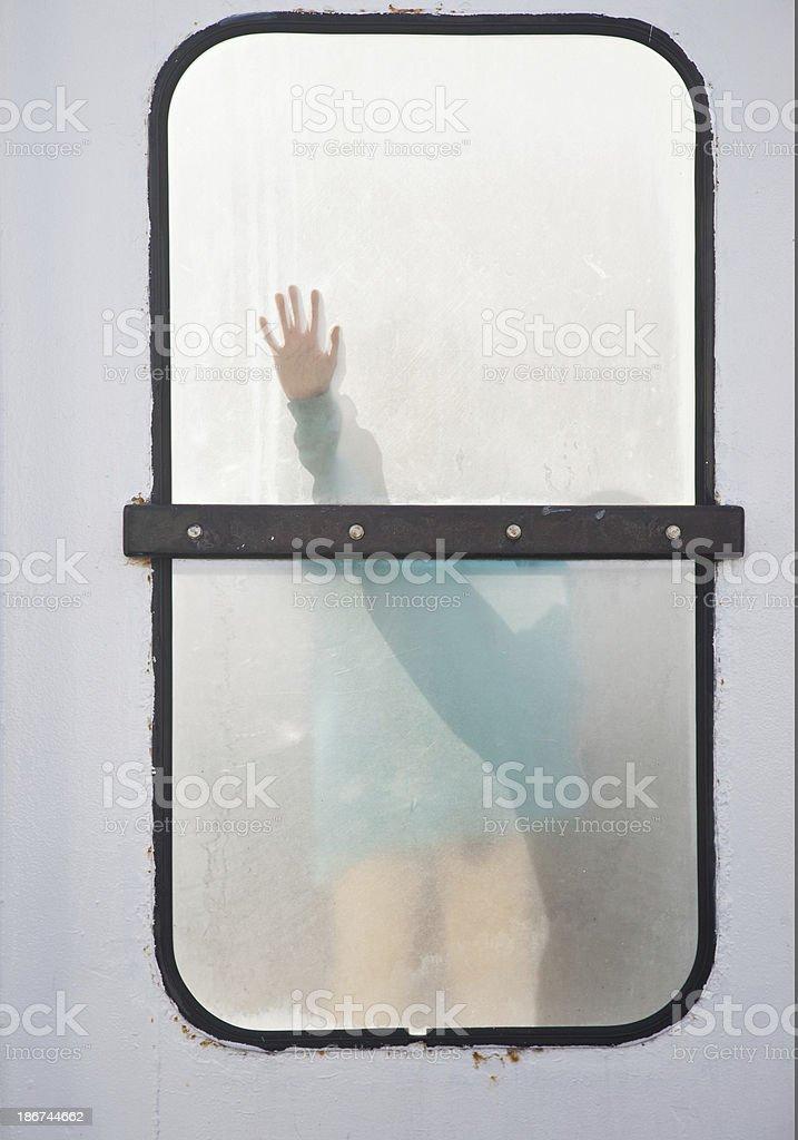 Window wave royalty-free stock photo