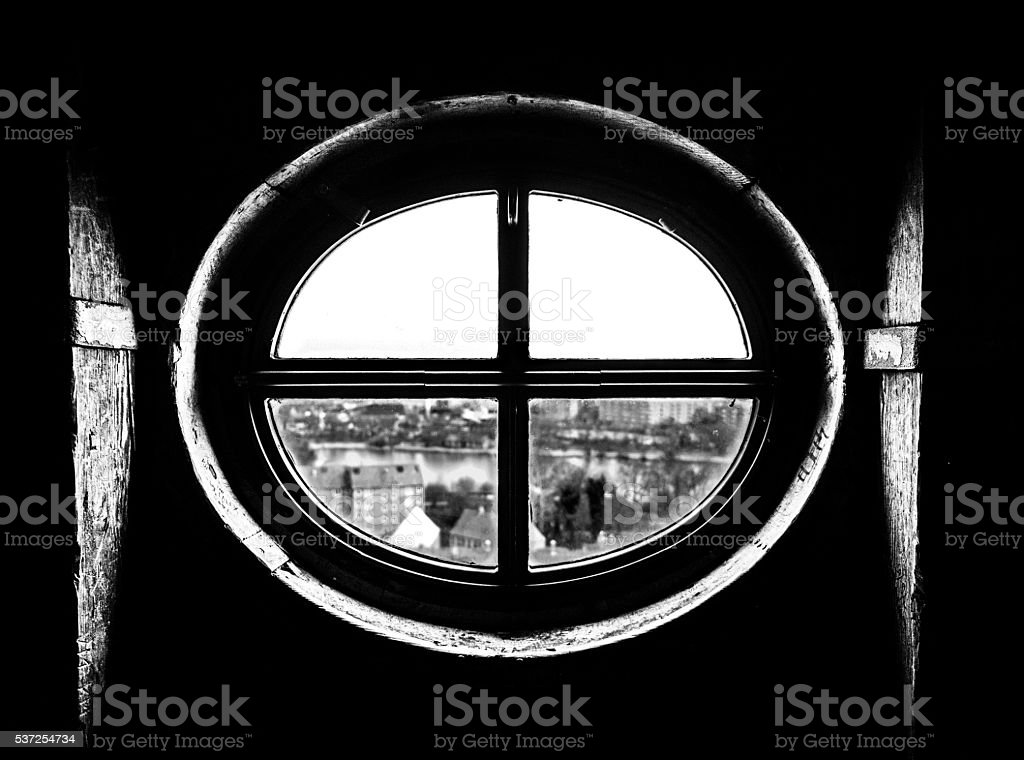 Window with a view stock photo