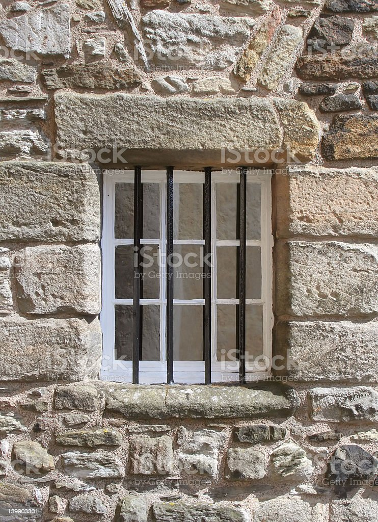 Window with bars stock photo