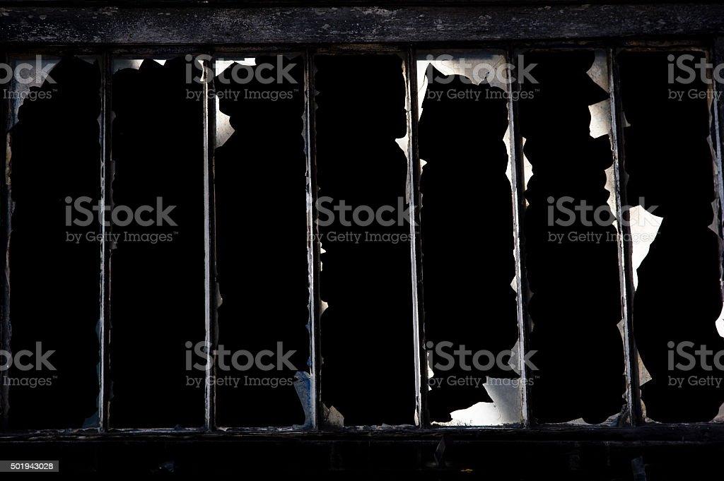 window with bars stock photo