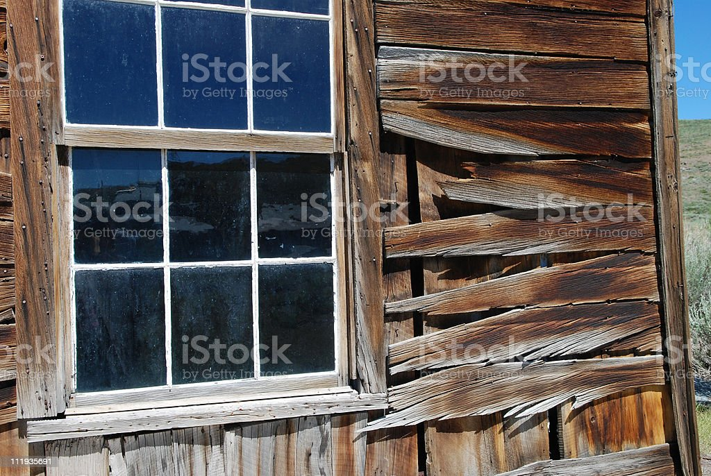 Window with Bodie Reflection royalty-free stock photo