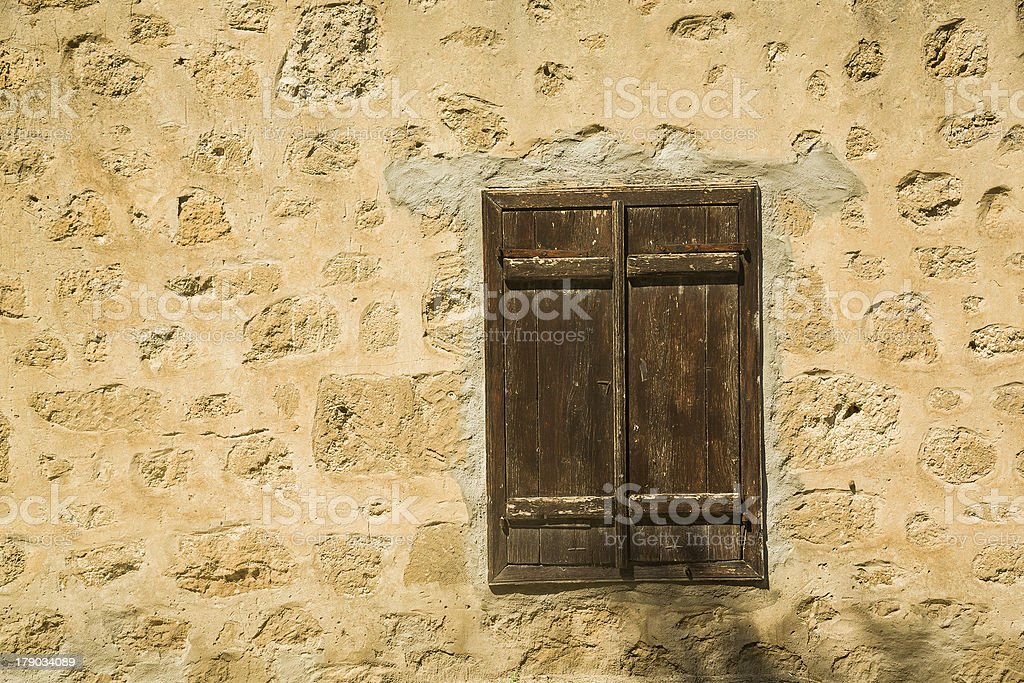 Window with closed shutters. royalty-free stock photo