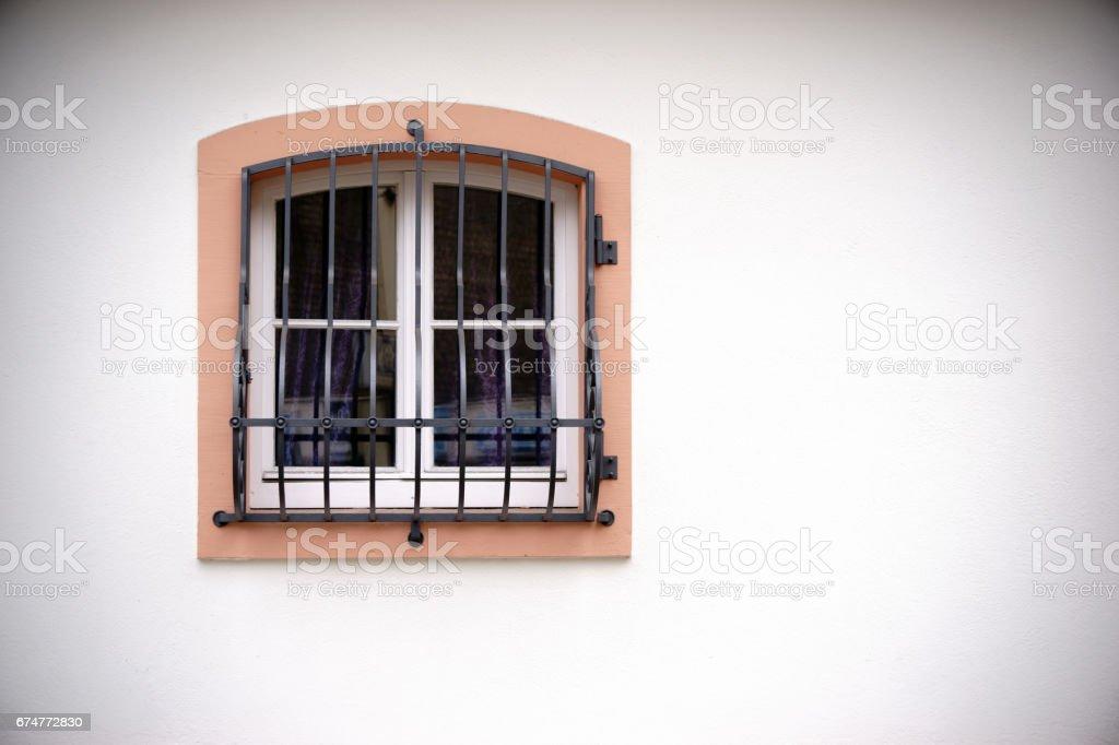Window with grid stock photo