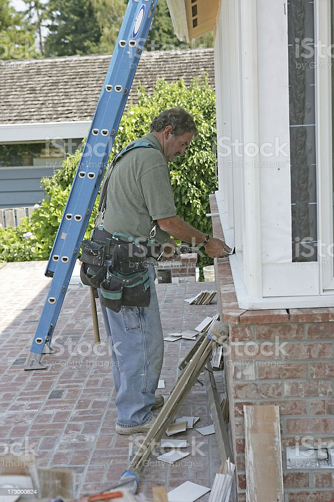 Window Work Vertical royalty-free stock photo