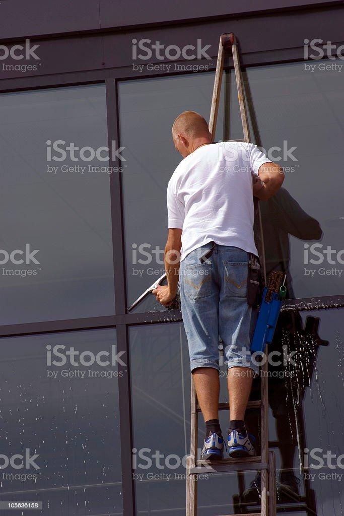 Windowcleaner stock photo